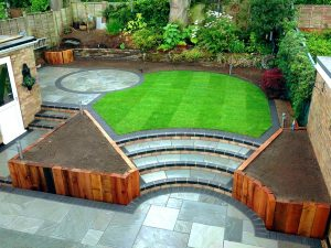 Paving and garden landscaping